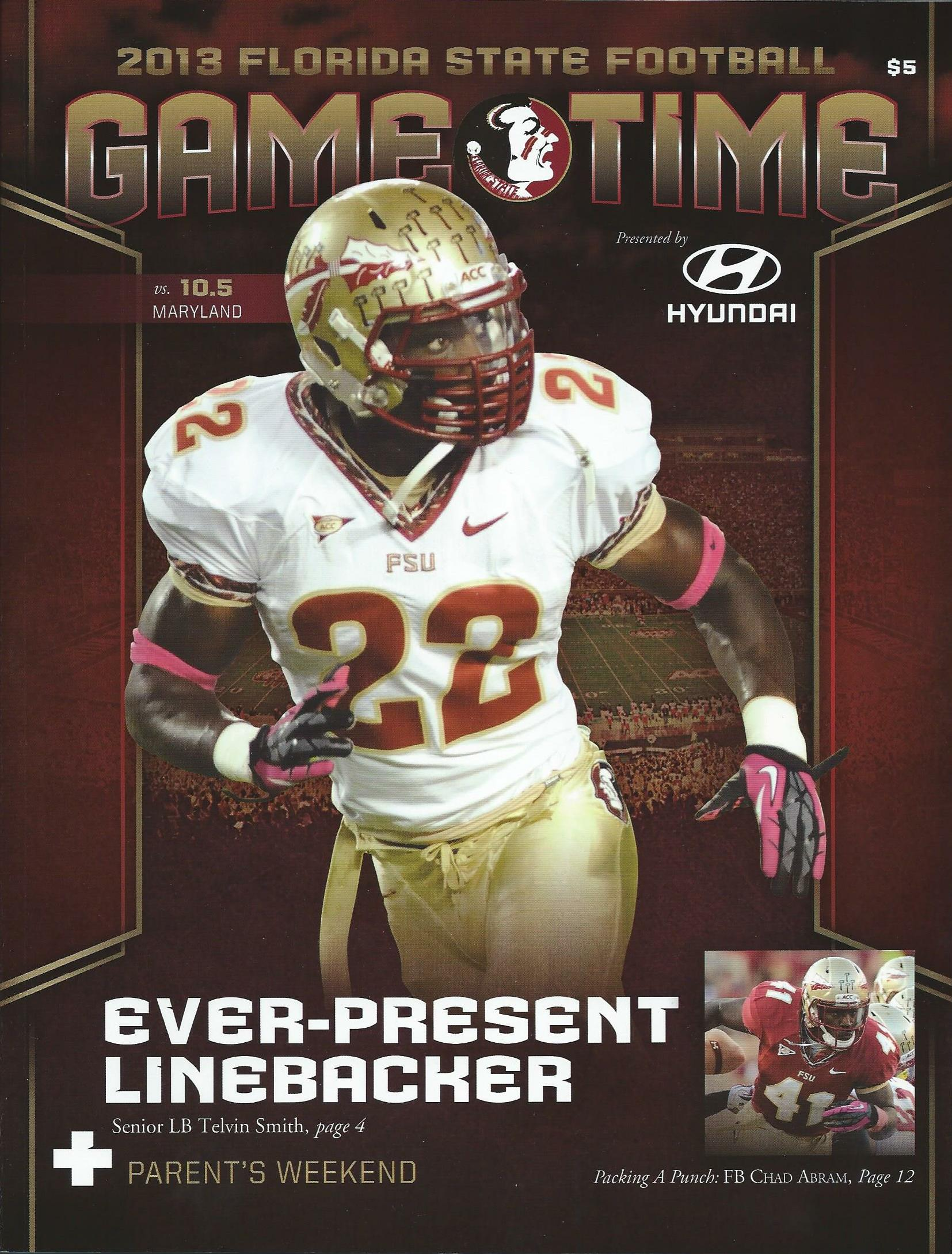Florida state football 2013 year in review click here for program cover voltagebd Image collections