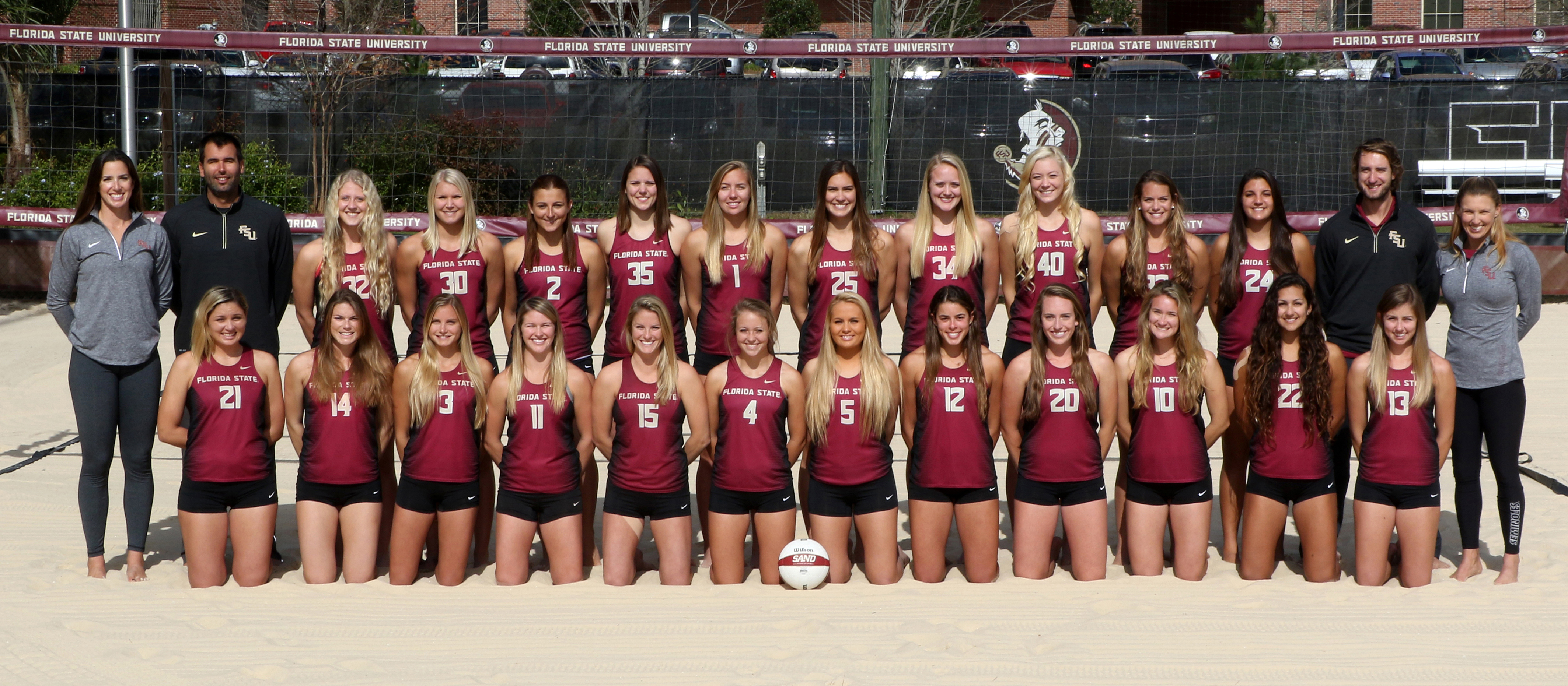 2016 Florida State Women S Beach Volleyball Team